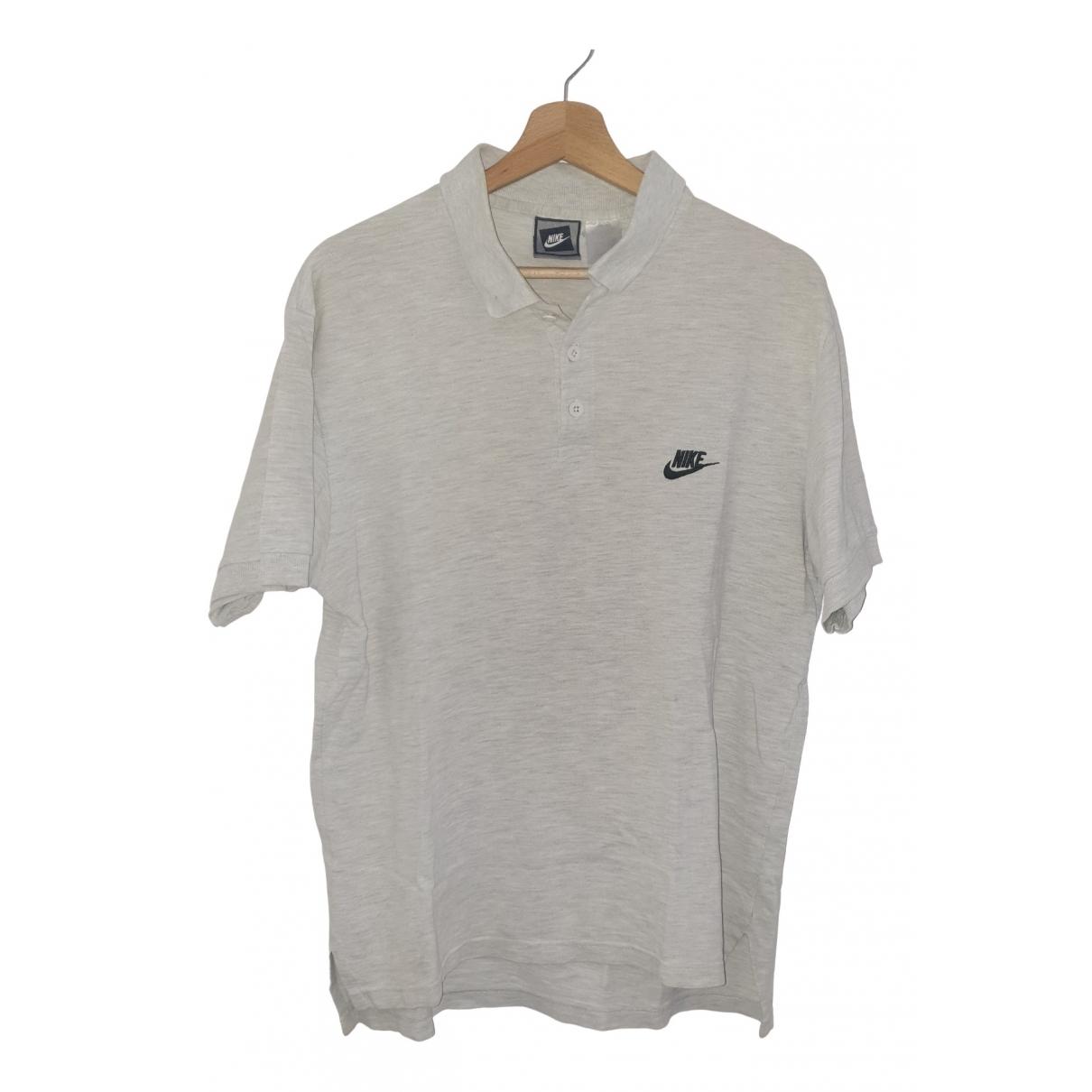 Nike - Polos   pour homme en coton - gris