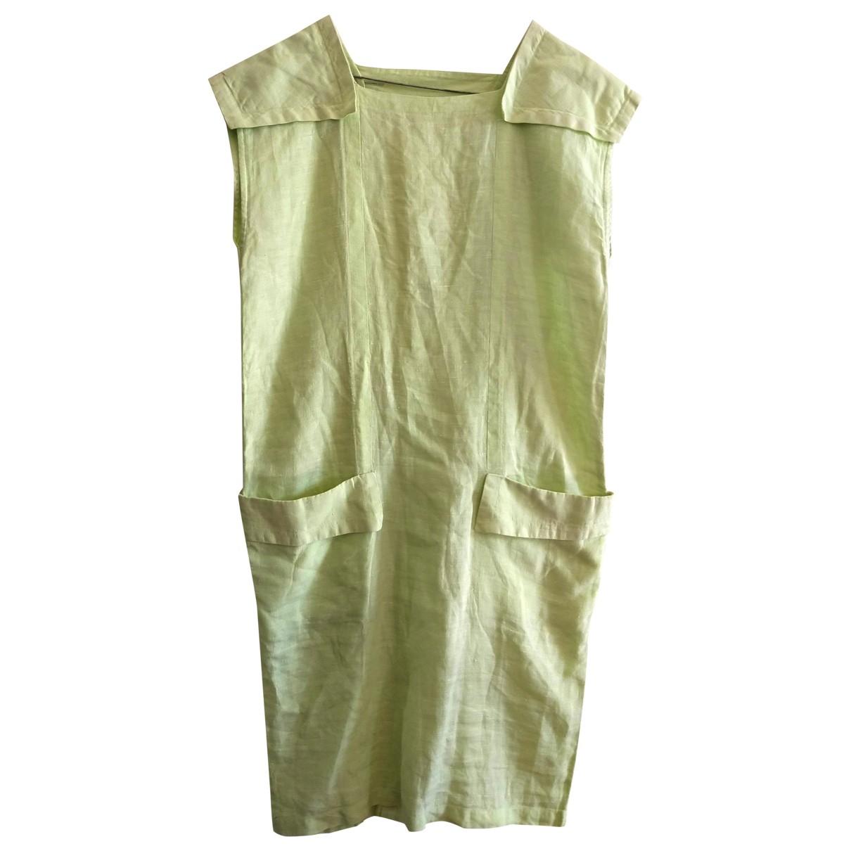 Byblos \N Kleid in  Gruen Leinen