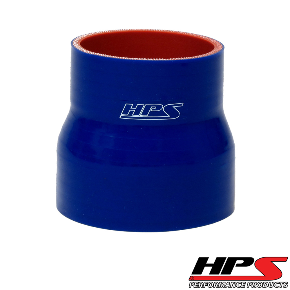 HPS 3 to 3 1/8inch  (76mm to 80mm) 4-ply Reinforced Reducer Coupler Silicone Hose Blue