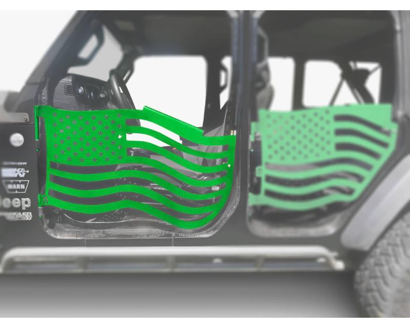 Steinjager J0049358 Doors Trail Neon Green Jeep Wrangler JL 2018+
