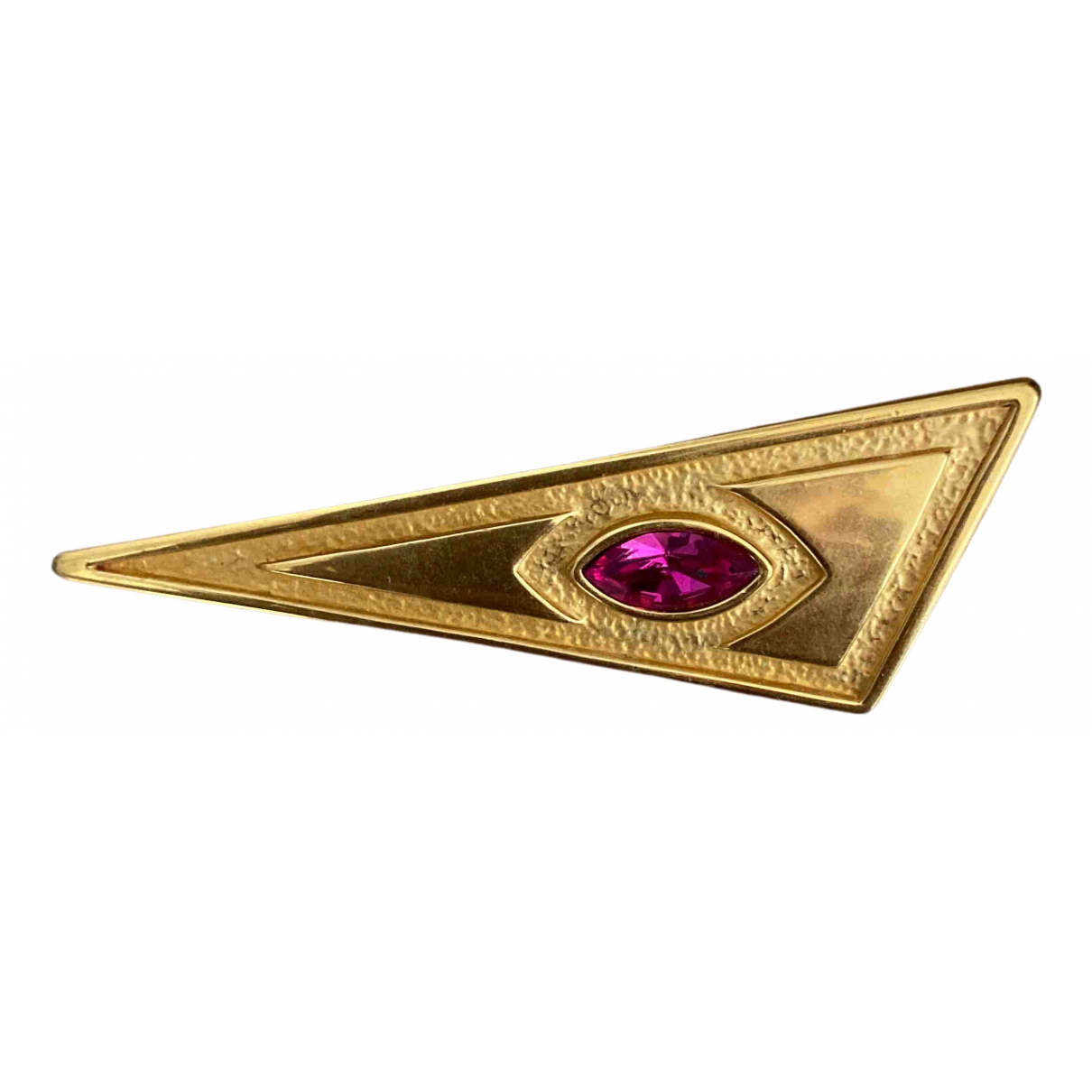 Broche Art Deco en Metal Dorado Non Signe / Unsigned