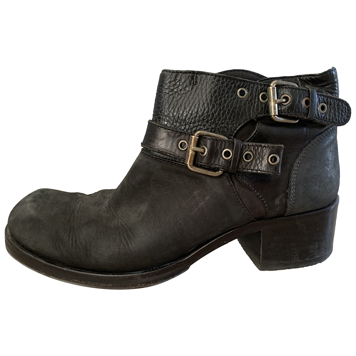 Mcq - Boots   pour femme en cuir - noir