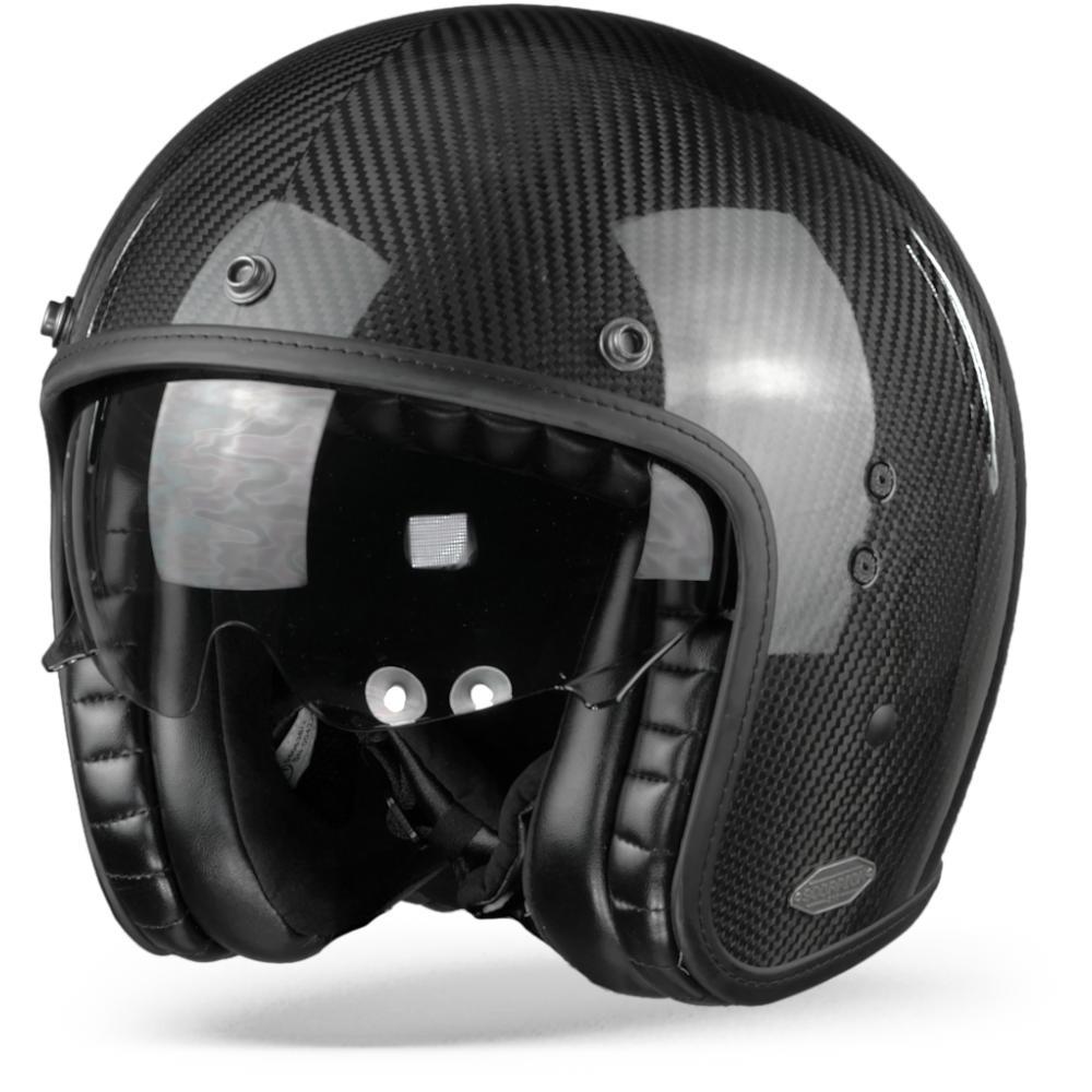 Scorpion Belfast Carbon Solid Casco Jet Negro XL