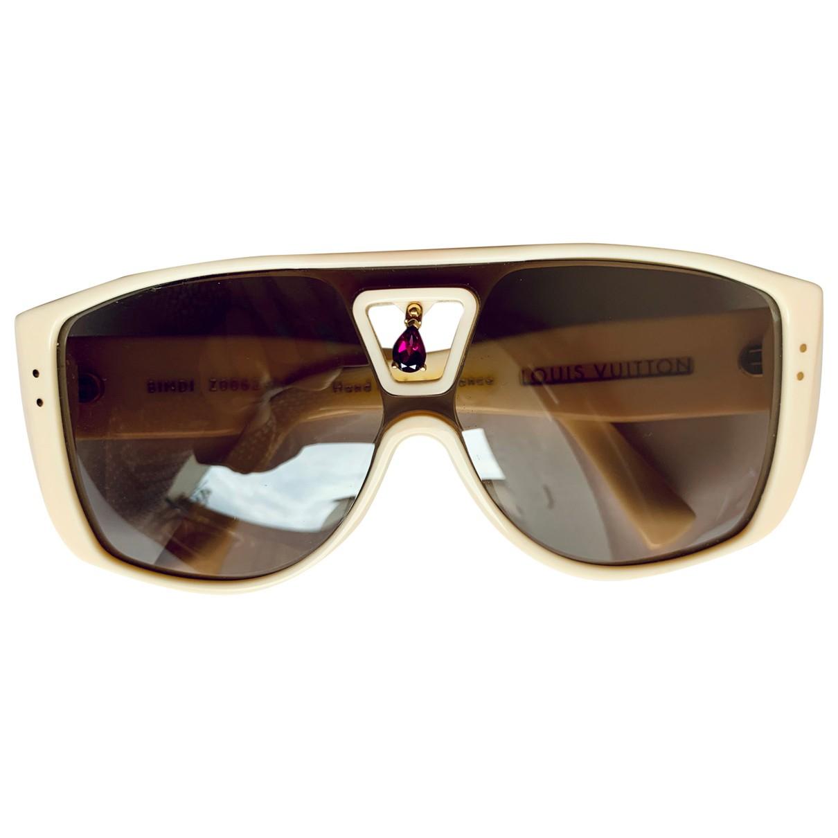 Louis Vuitton \N Sonnenbrillen in  Weiss Kunststoff