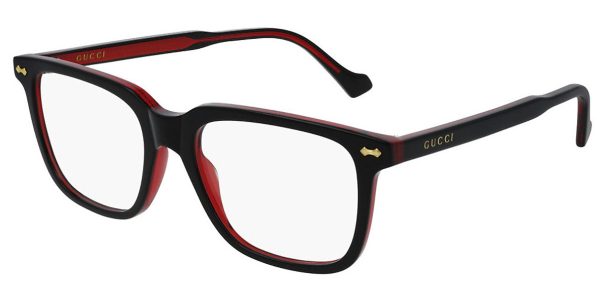 Gucci GG0737O 004 Mens Glasses Black Size 51 - Free Lenses - HSA/FSA Insurance - Blue Light Block Available