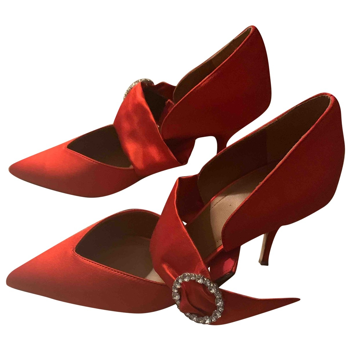 Malone Souliers \N Pumps in  Rot Samt