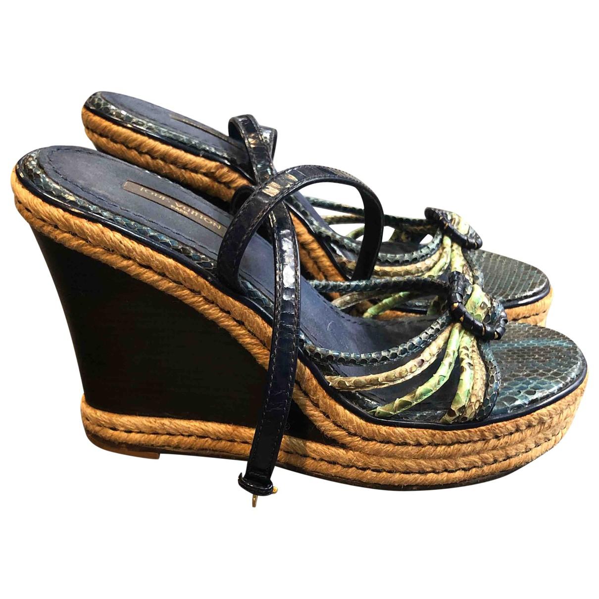 Louis Vuitton \N Multicolour Python Sandals for Women 38.5 IT