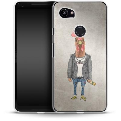 Google Pixel 2 XL Silikon Handyhuelle - Punk Rooster von Barruf