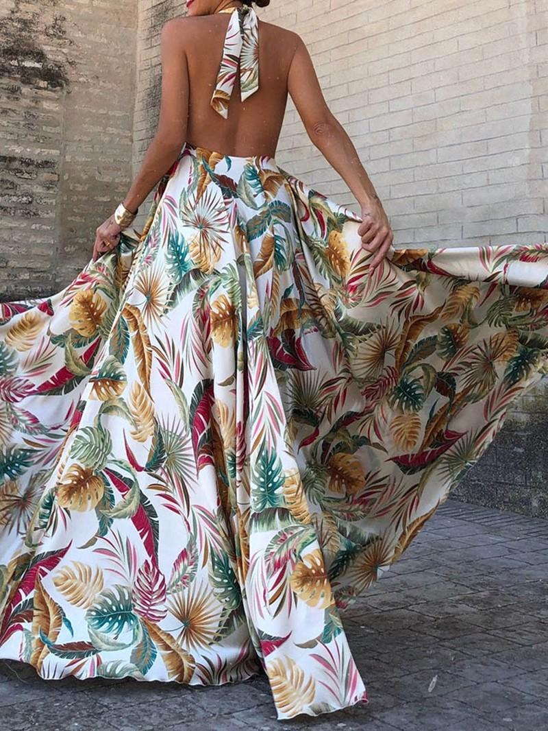 Ericdress Floor-Length Sleeveless Backless Summer Pullover Dress