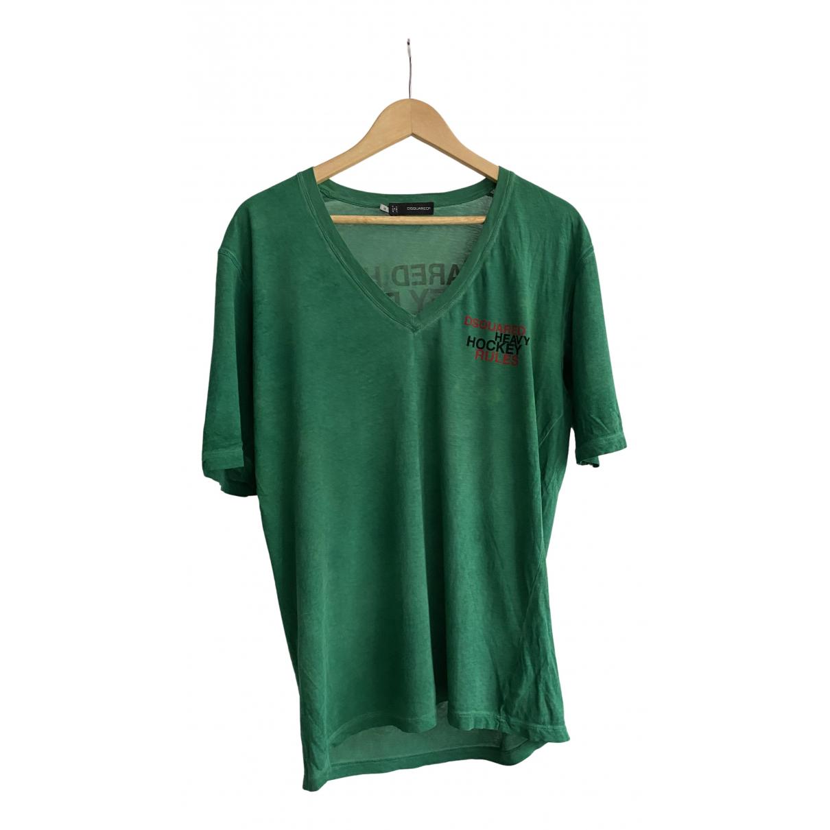Dsquared2 \N T-Shirts in  Gruen Baumwolle