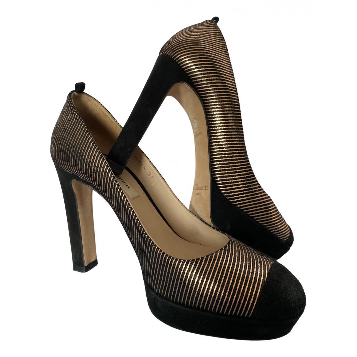 Lk Bennett \N Black Suede Heels for Women 37.5 EU
