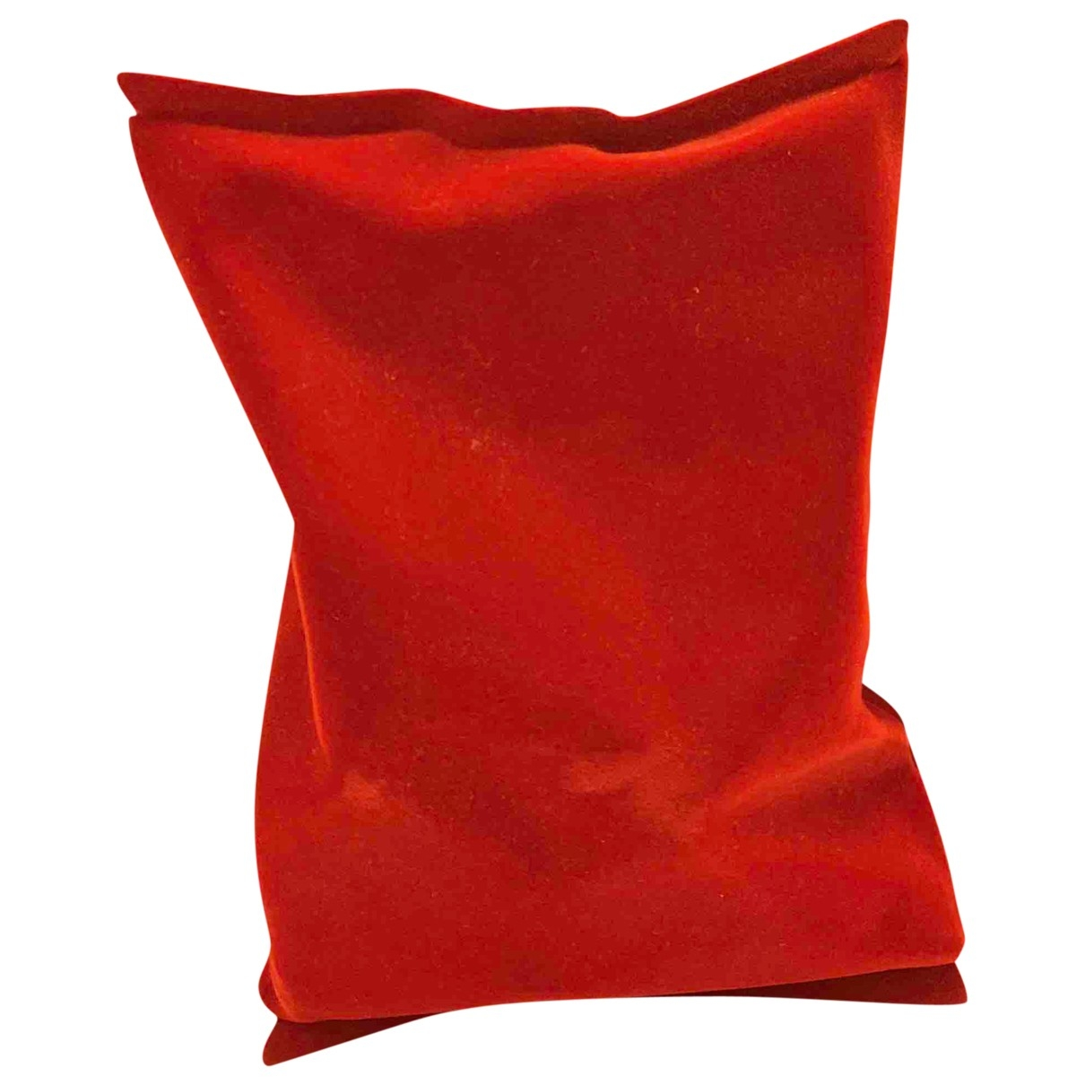 Anya Hindmarch Crisp Packet Clutch in  Rot Samt