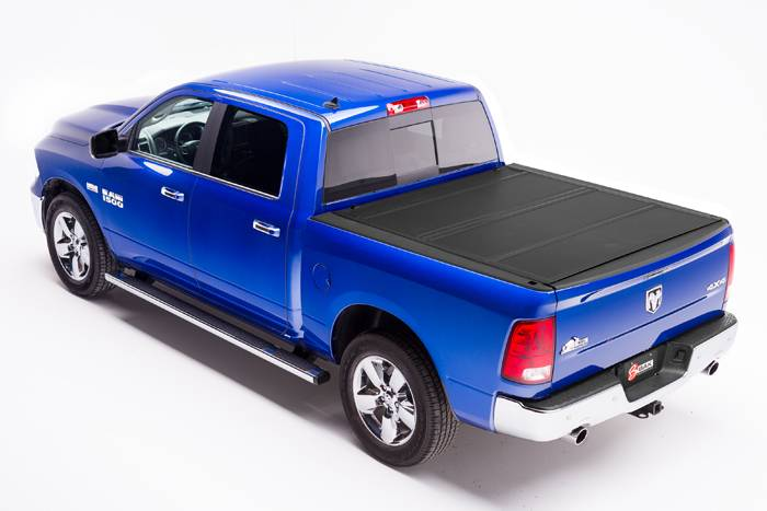 BAK Industries 448207RB BackFlip MX4 Hard Folding Tonneau Cover 5 7 Bed w/Ram Box Dodge Ram 09-17