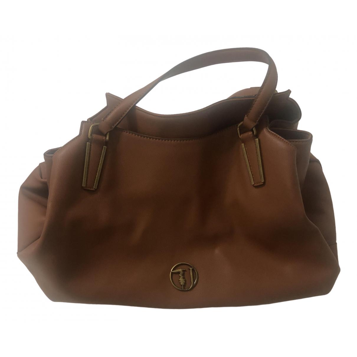 Trussardi Jeans \N Beige Leather handbag for Women \N