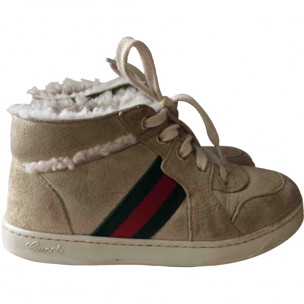 Gucci \N Beige Suede Boots for Kids 25 EU