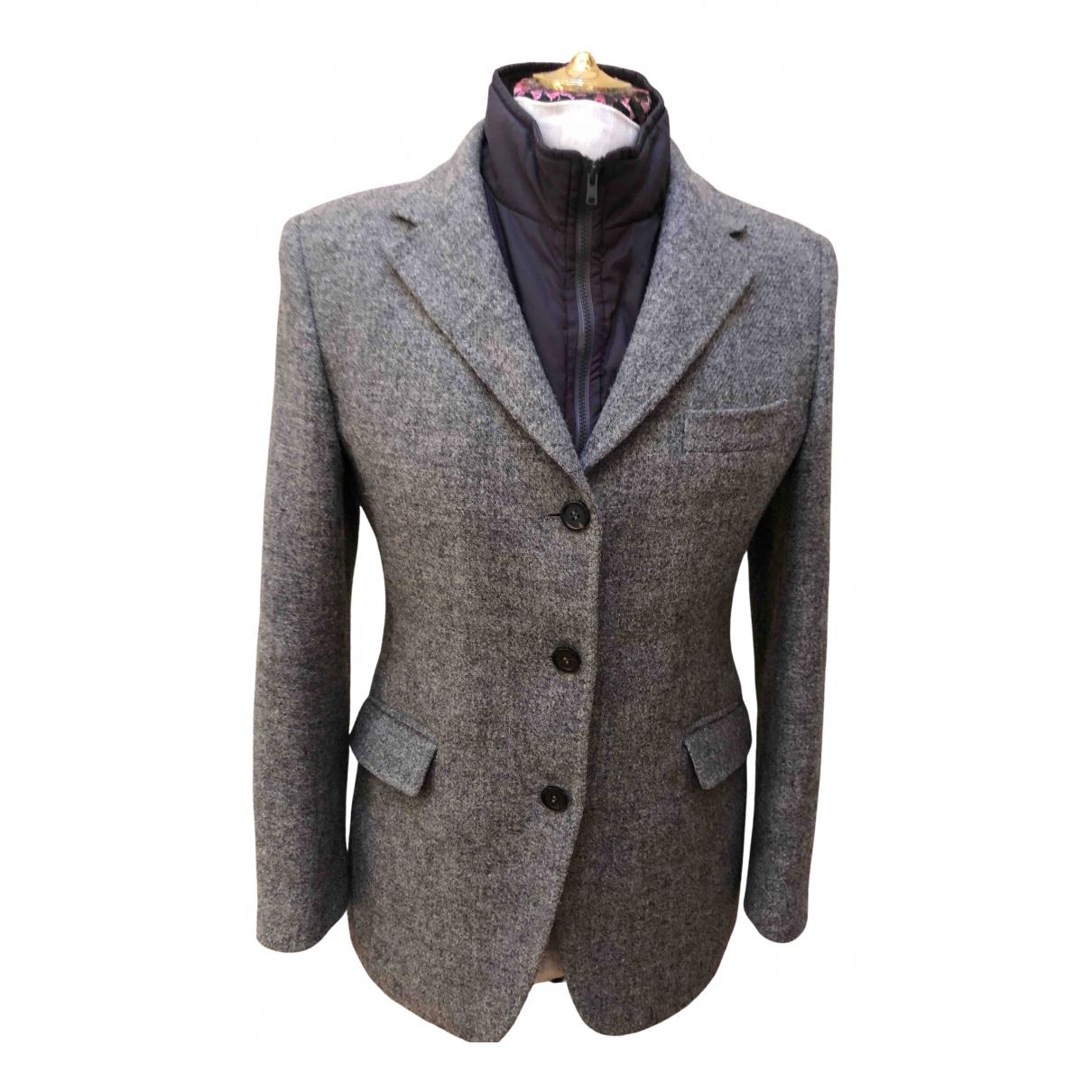 Fay - Veste   pour femme en laine - gris