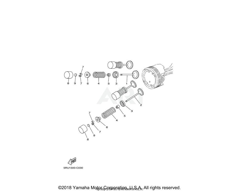 Yamaha OEM 5RU-12153-30-00 LIFTER, VALVE | UR RED