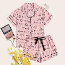 Pink Taschen  Buchstaben  Suess Pyjama Sets