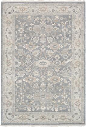 Soumek SMK-102 6' x 9' Rectangle Traditional Rugs in Taupe  Dark Brown  Butter
