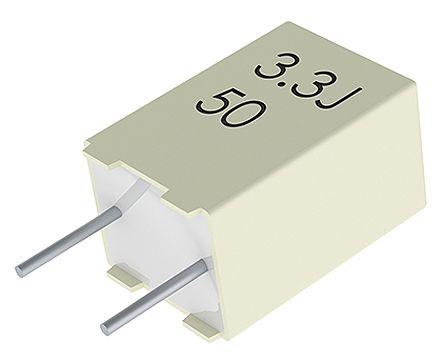 KEMET 220nF Polyester Capacitor PET 63 V ac, 100 V dc ±10% (50)