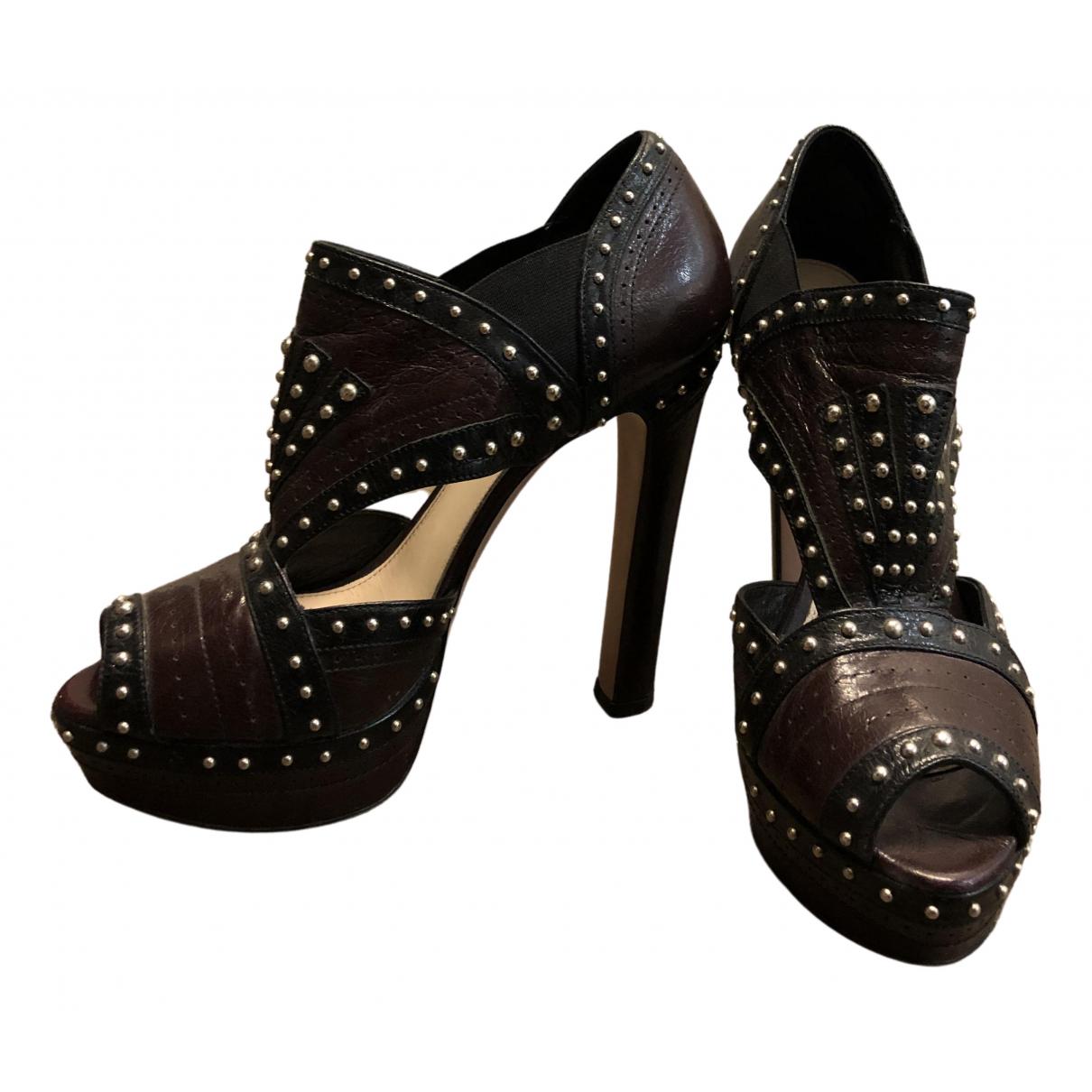 Prada \N Brown Leather Heels for Women 39 EU