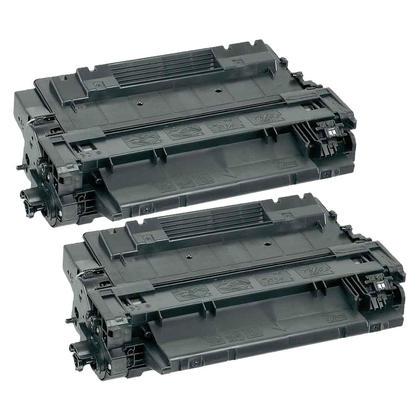 Compatible HP 55A CE255A cartouche de toner noire - boite economique - 2/paquet