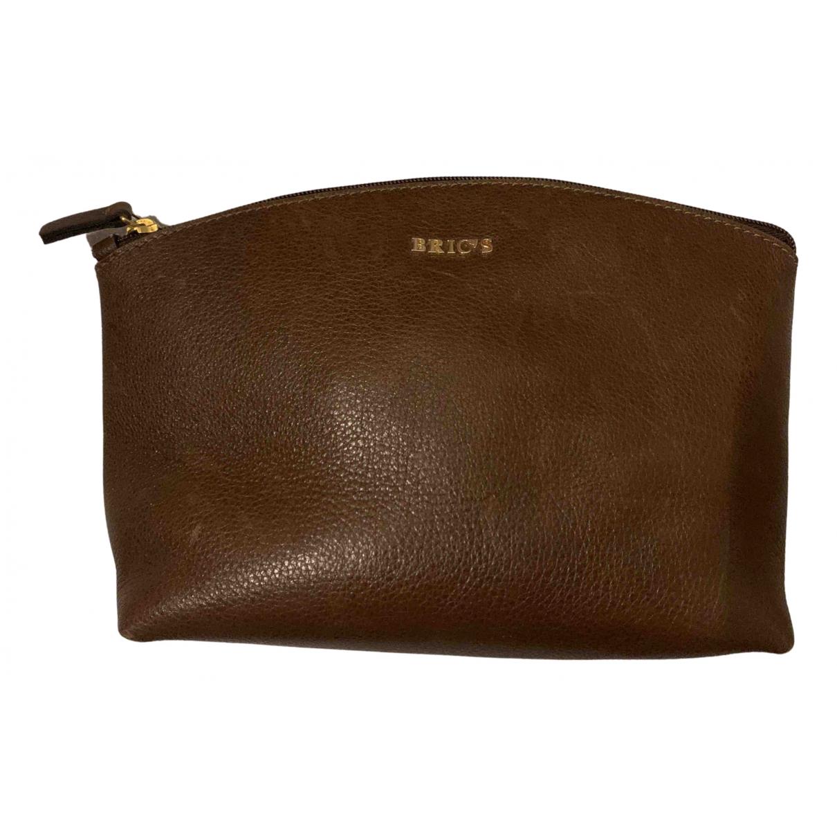 Brics - Petite maroquinerie   pour femme en cuir - marron