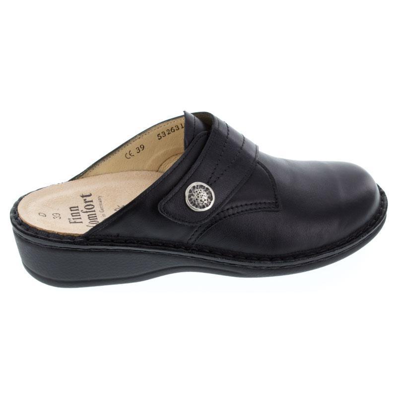 Finn Comfort Santa Fe Black Leather Soft Footbed 43