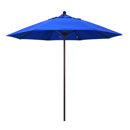 ALTO908117-5401 9' Venture Series Commercial Patio Umbrella With Bronze Aluminum Pole Fiberglass Ribs Push Lift With Sunbrella 1A Pacific Blue