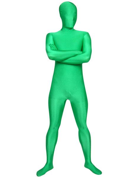 Milanoo Disfraz Halloween Zentai unisex de elastano de marca LYCRA de color verde  Halloween