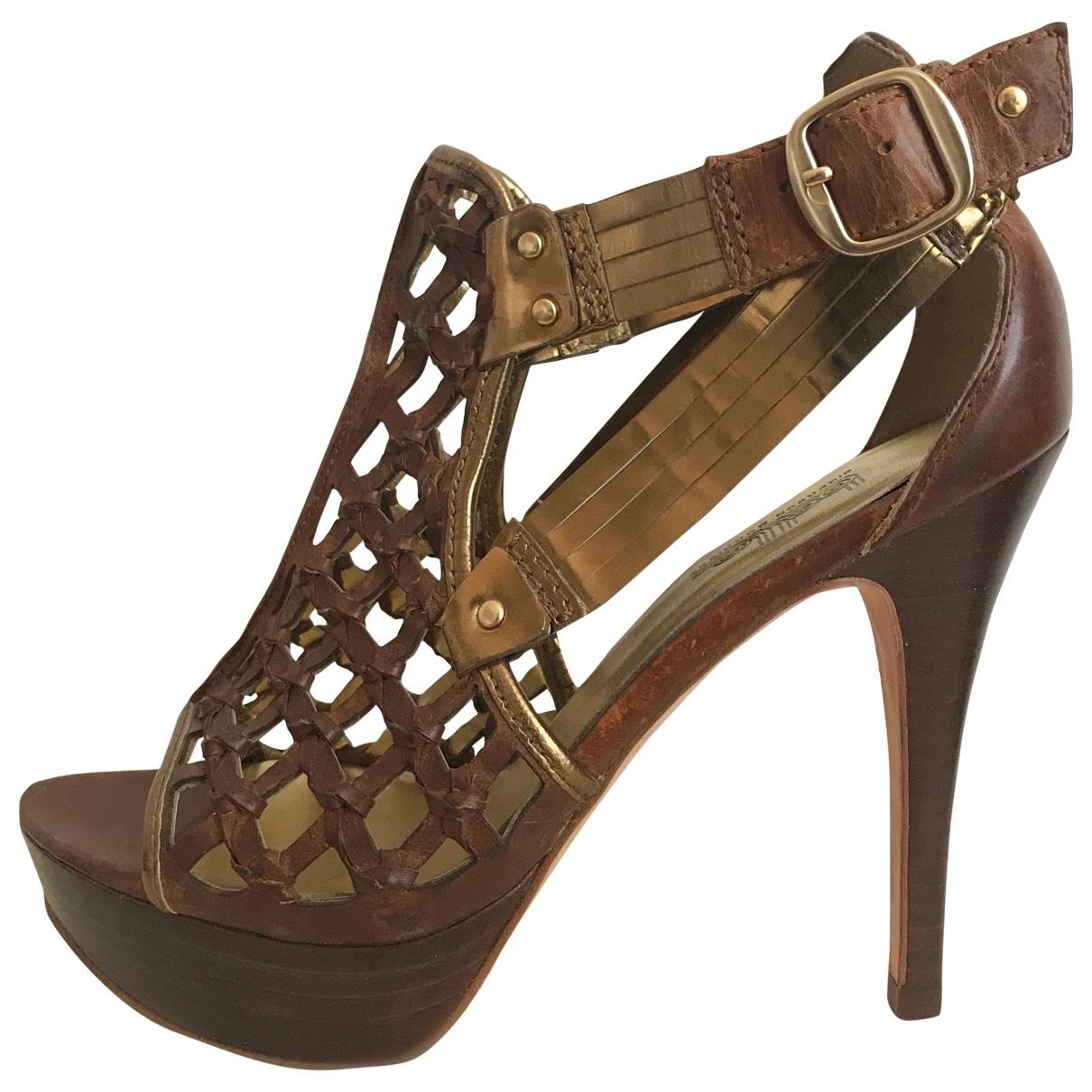 Belle Sigerson Morrison \N Brown Leather Sandals for Women 6 US