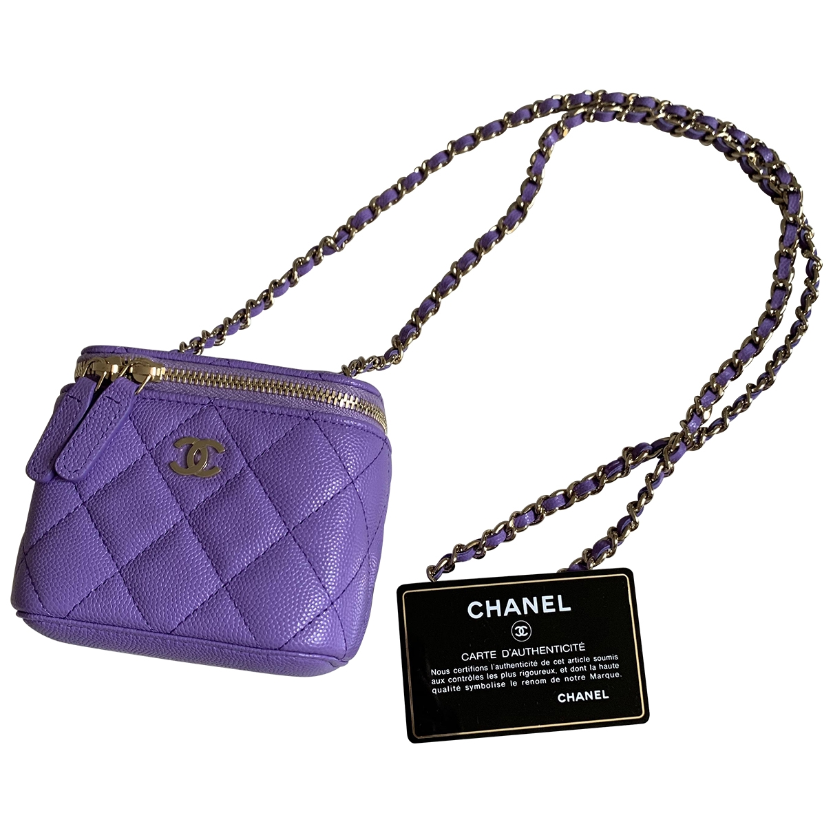 Chanel \N Purple Leather handbag for Women \N