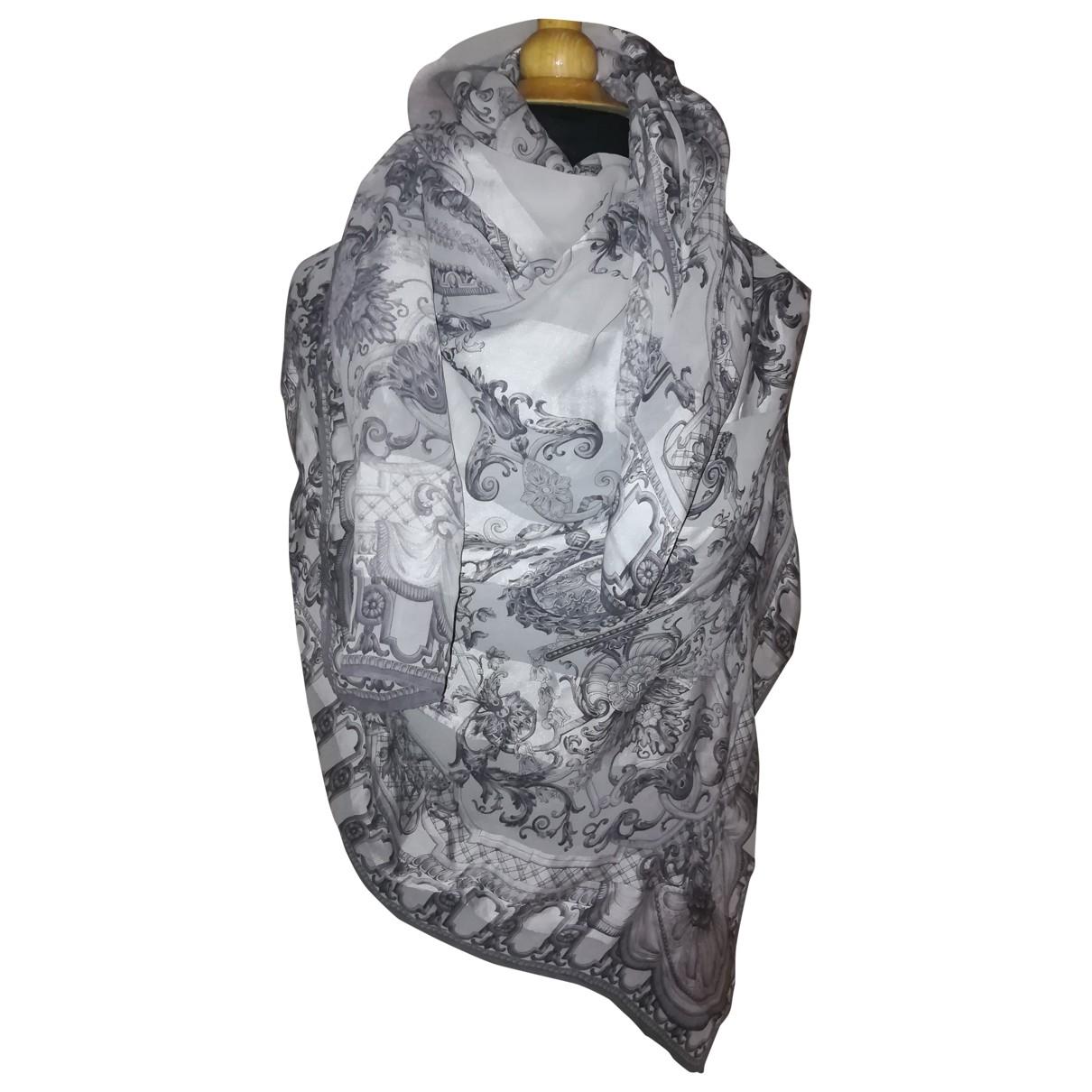Escada - Foulard   pour femme en soie - gris