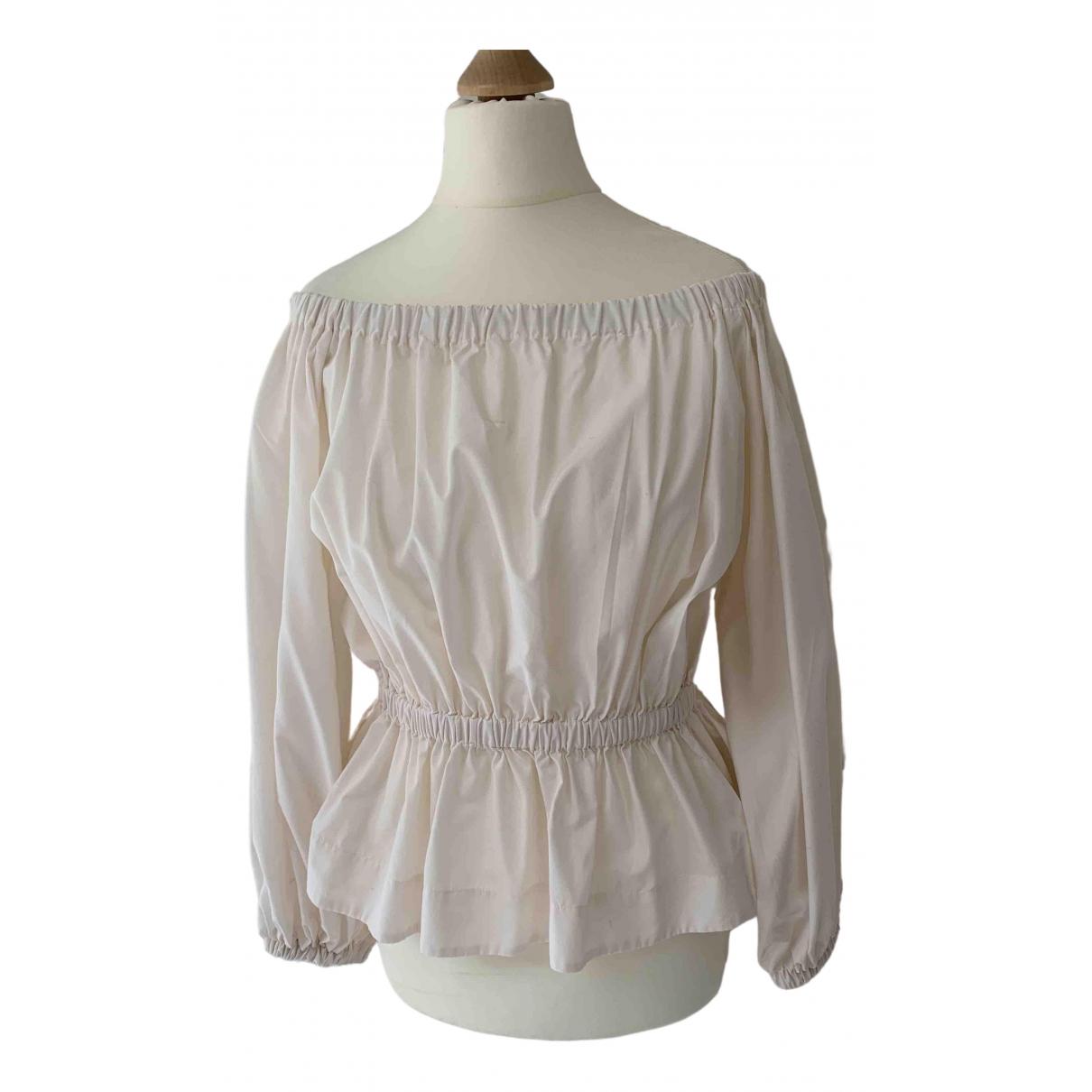 Molly Goddard - Top   pour femme en coton - ecru
