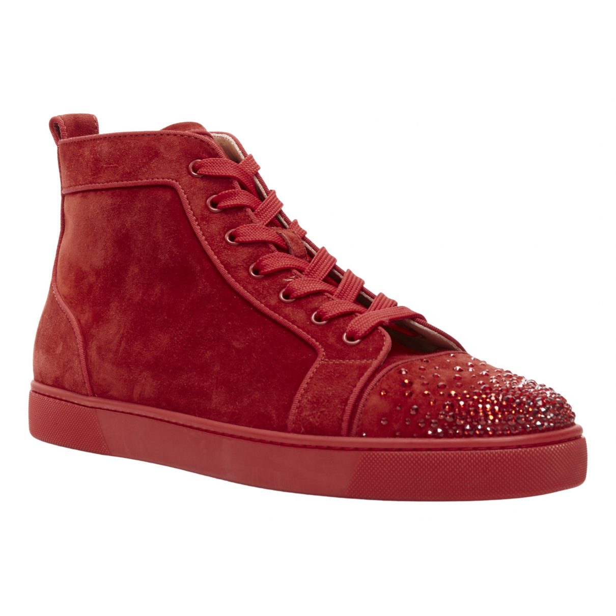 Christian Louboutin \N Red Suede Trainers for Men 45 EU