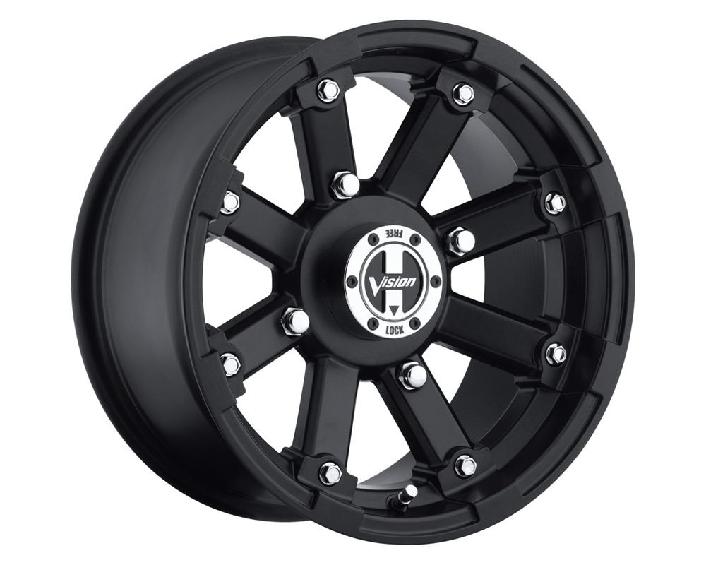 Vision Lockout 393 Matte Black Wheel 12x7 4x101.6 4+3
