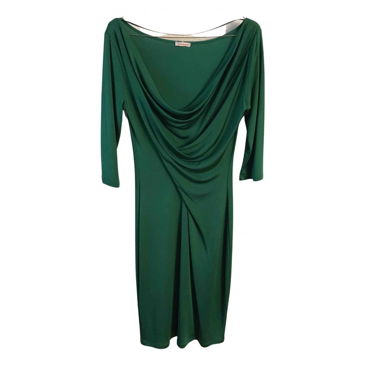 Parosh \N Kleid in  Gruen Seide