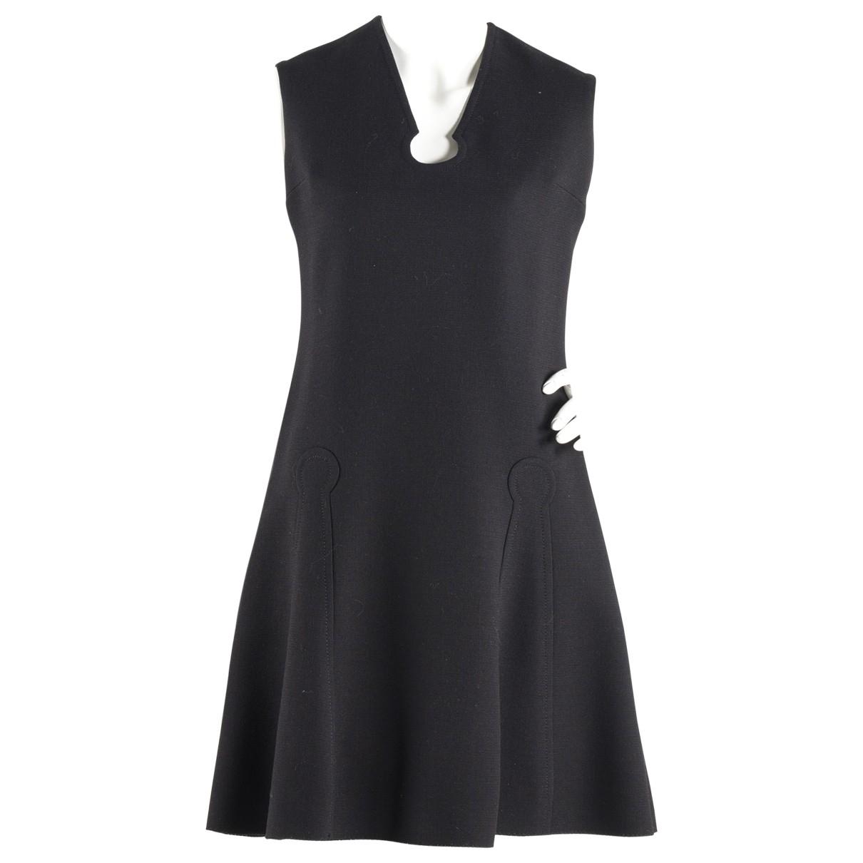 Pierre Cardin \N Kleid in  Schwarz Wolle
