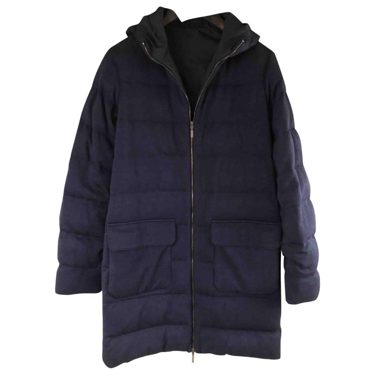 Cruciani - Manteau   pour homme en laine - marine
