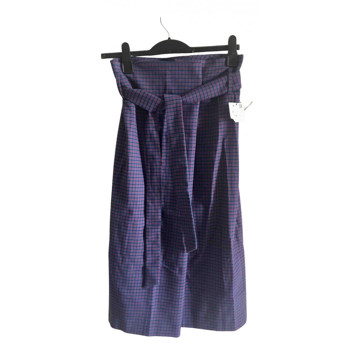 Zara - Jupe   pour femme en laine - multicolore