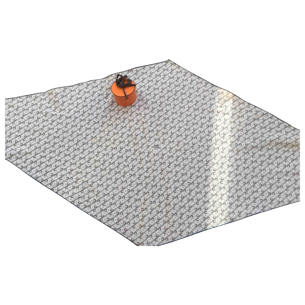 Hermes - Cheches.Echarpes   pour homme en coton - blanc