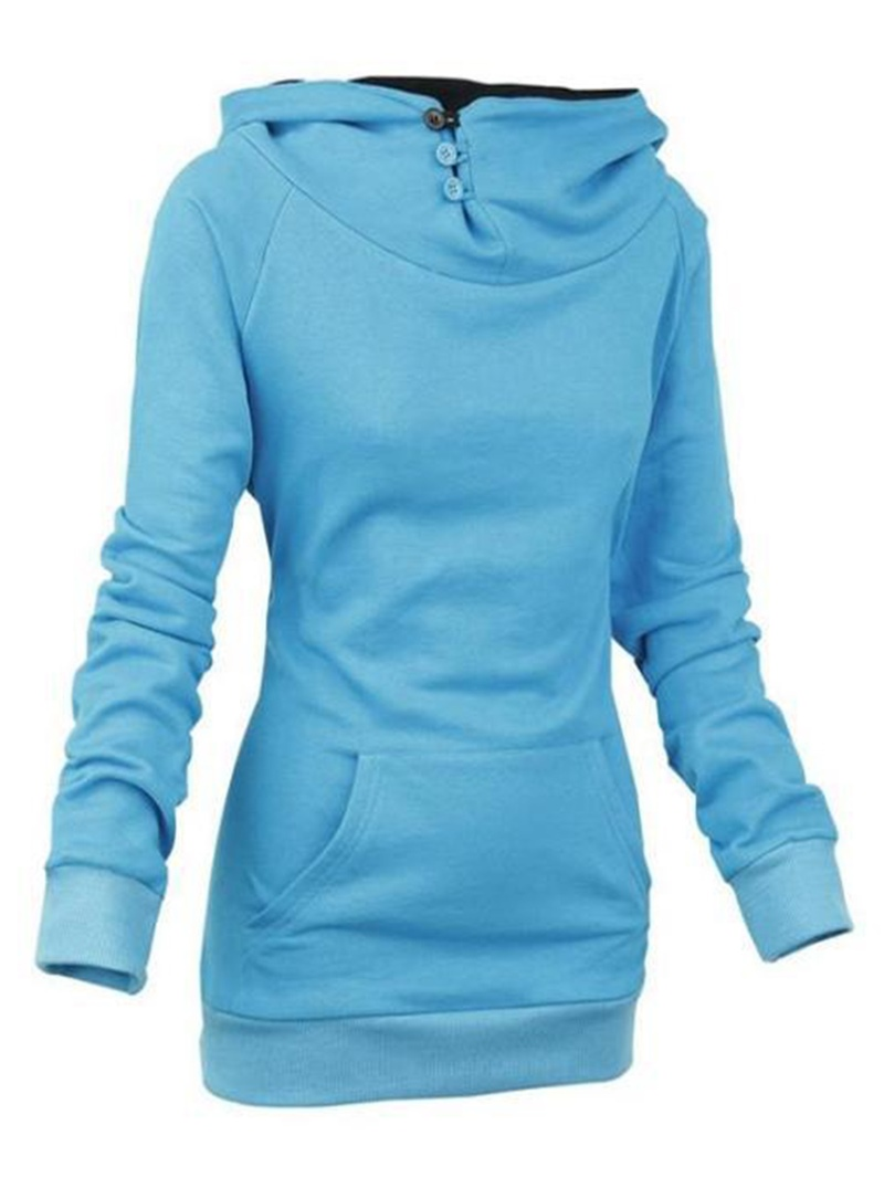 Ericdress Plain Mid-Length Slim Sweatshirt