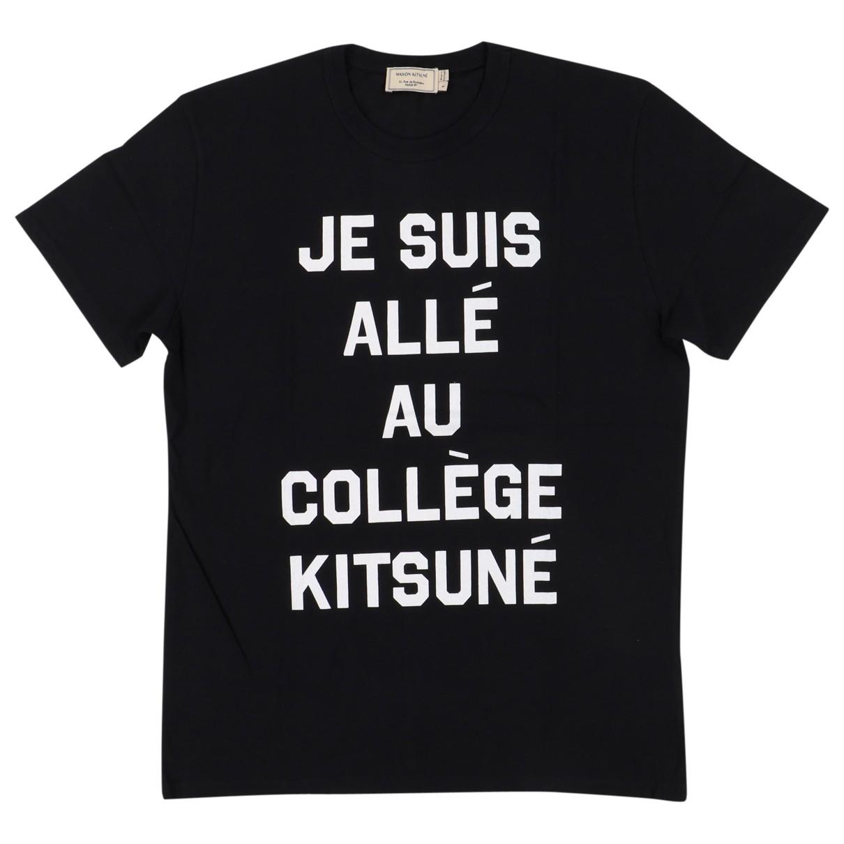 Maison Kitsune - Tee shirts   pour homme en coton - noir