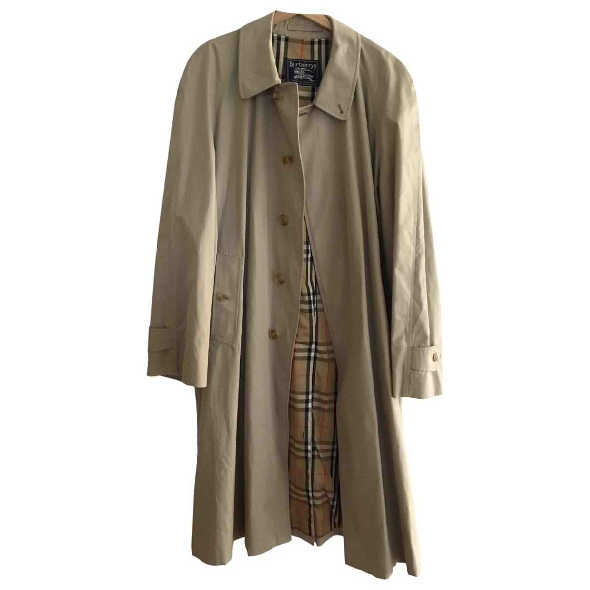 Burberry \N Beige Cotton coat  for Men XXXL International