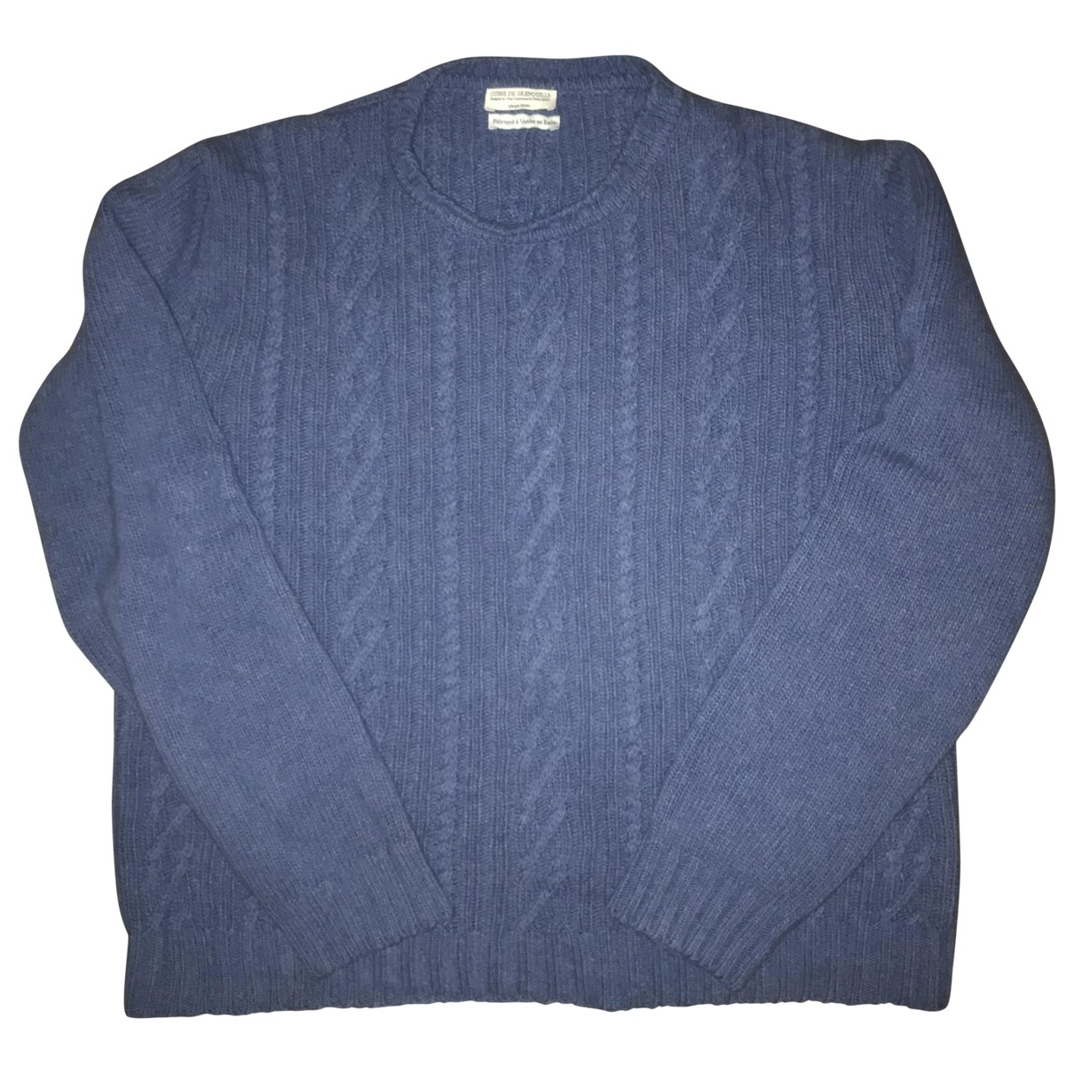 Cuisse De Grenouille \N Pullover.Westen.Sweatshirts  in  Blau Wolle