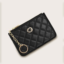 Chain Decor Quilted Purse
