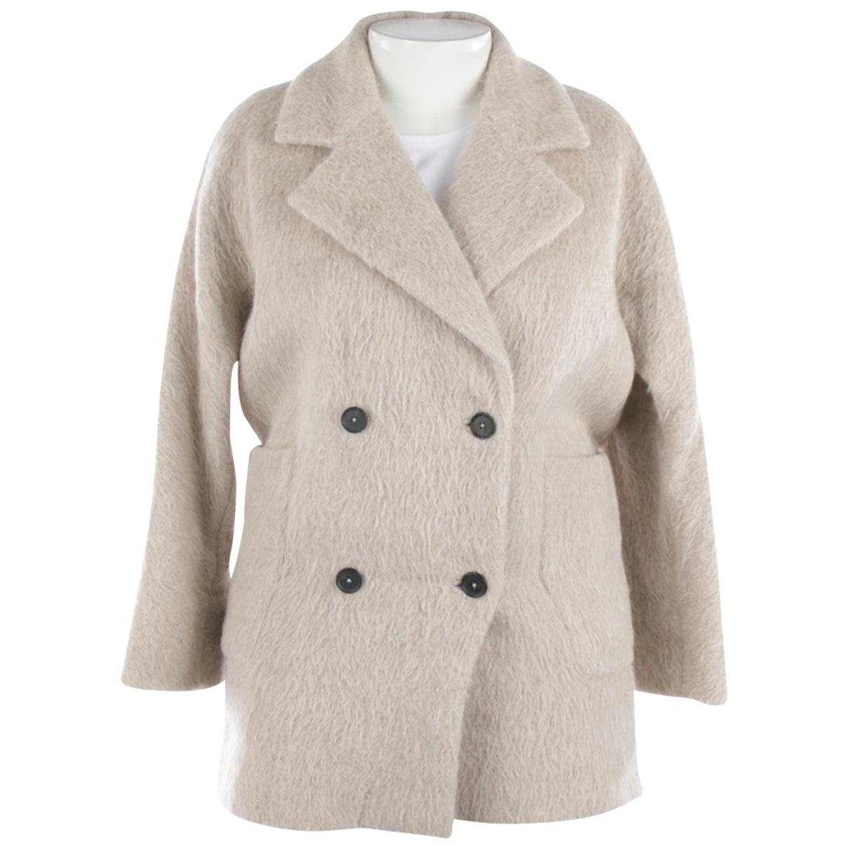 Mih Jean - Veste   pour femme en laine - beige