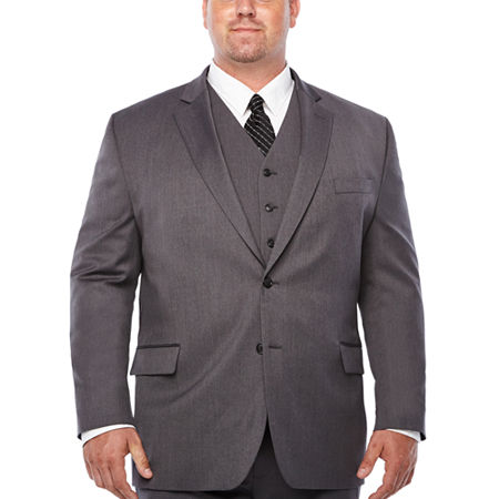 Stafford Travel Stretch Mens Stretch Classic Fit Suit Jacket-Big and Tall, 52 Big Regular, Gray