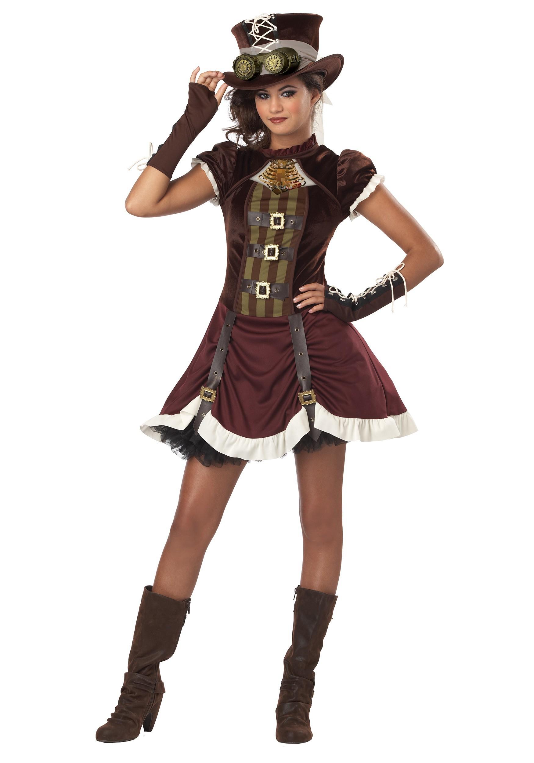 Tween Steampunk Costume for Girls | Unique Halloween Costumes