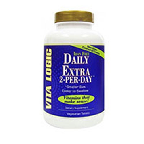 Daily Extra 2-Per-Day 120 Vegetarian Tabs by Vita Logic